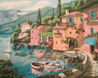 Seaside Village Print