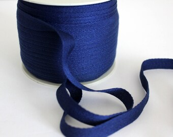 "1/2"" Polyester Twill Tape - Navy - 5 yards"