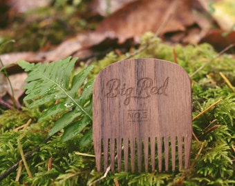 Big Red Beard Comb - Walnut No.5