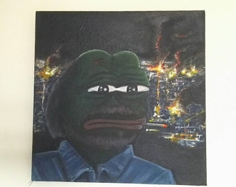 Pepe the Frog Painting: Why Didn't You Listen?