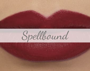"Vegan Matte Lipstick Sample - ""Spellbound"" deep burgundy wine red natural organic lipstick"
