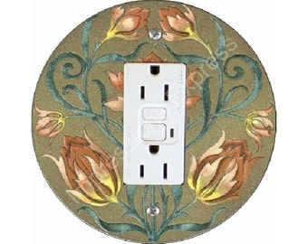 Victorian Floral GFI Outlet Plate Cover