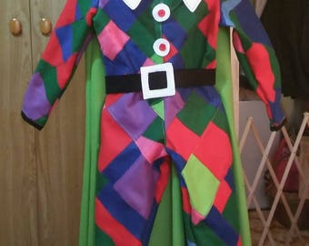 Carnival Harlequin Costume (size 7-8 years)
