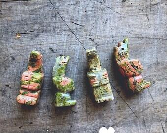 Stone Walking Bear Pendant- DIY JEWELRY