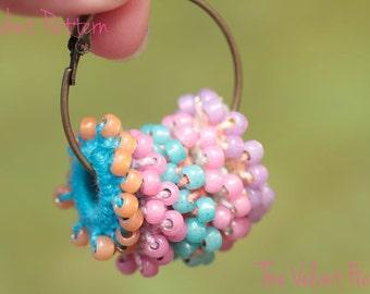 Crochet Earrings Pattern, Beaded Necklace Tutorial, Easy Jewelry(16)
