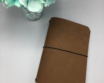 Spice Brown - Pocket - Leather Traveler's Notebook/Fauxdori/TN Planner Cover