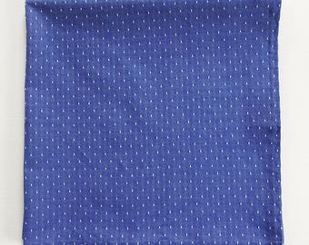 """Blue Chambray Bandana, Bright Blue with White Dots Bandanas, 24"""" Square Cotton Scarf, Gifts For Women, Springtime, Blue Gardening Scarf"""