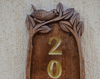outdoors gift, Wood carving, address sign, house number plaque, craftsman, outdoor house numbers, address sign for your house,Housewarming