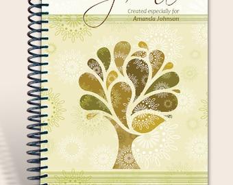 Vintage Tree / Journal Notebook / Prayer Journal Personalized  / Jeremiah 29:11