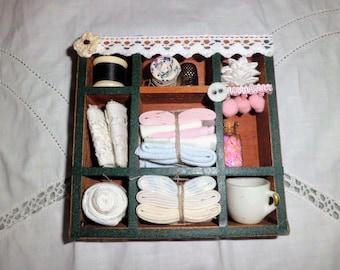 Betting box Nähutensilien ~ Vintage