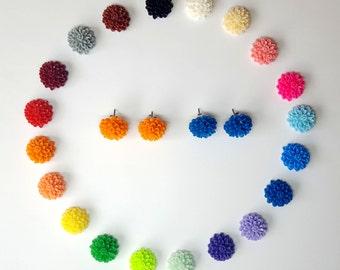 Large Dahlia Flower Earrings. Flower Stud Earrings. Dahlia Post Earrings. Surgical Steel Posts. Resin Cabochon. Choose your Color. 18mm