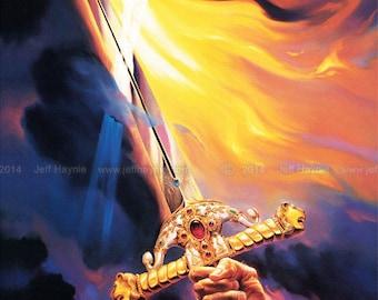 Sword of the Spirit // 11 X 14 PRINT // Christian Art print // Sword print // Sword of the Spirit Art Print // Sword Print