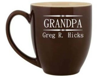 Personalized Grandpa Bistro-Style Coffee Mug