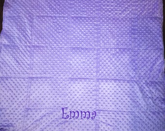 Personalized Weighted blanket, Minky Blanket, Autism Blanket
