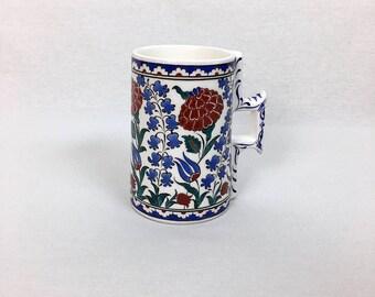 Handmade Iznik Ceramic Tankard, Stein