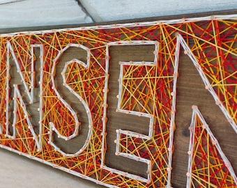 6 Letter String Art Wooden Name Tablet - Made to Order