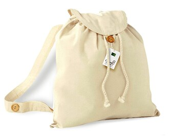Organic Cotton Bag Festival Natural Backpack Cotton Jute Bag Drawstring Organic Cotton Drawstring