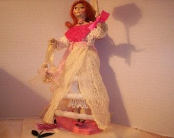 OOAK Paper Mache Queen Anne Doll Reproduction