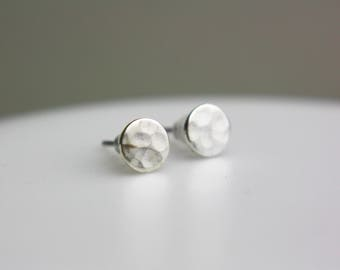 Circle Silver plated Brass earrings