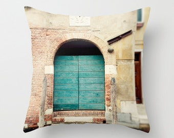 venice italy pillow cover, decorative throw pillow, home decor, turquoise decor, blue decor, europe photography, travel photography