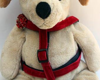 Mistletoe Red Velvet Step-In Dog Harness