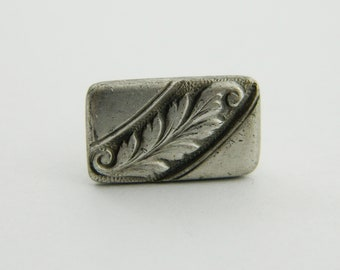 Tiny Antiqued Silver Feather Tie Clip