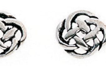 Celtic Knot stud earrings solid silver