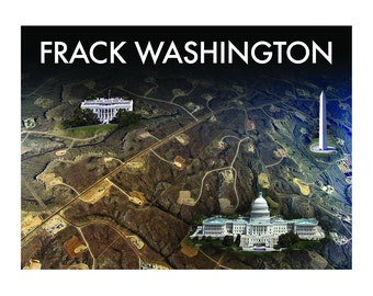 Printable Postcard to send Members of Congress about Fracking. Tell the Government what you think!  Resistance Postcards: FRACK WASHINGTON 2