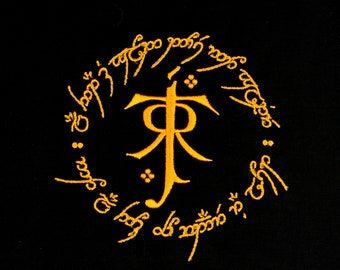 Tolkien symbol and ring 5x7 machine embroidery design