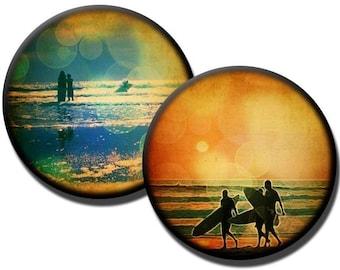 Vintage Summer - 1.25 inch circles - (2) digital downloads