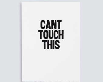 Can't Touch This Poster