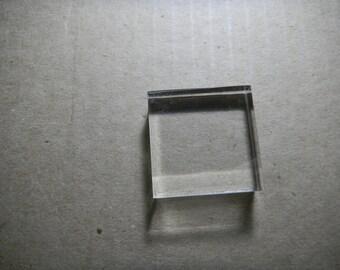 "1 1/2"" x 1 1/2"" acrylic block"