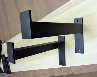 "22"" - 25"" Industrial Heavy Duty Shelf Bracket. Metal Angle Bracket. Shelf Bracket**"