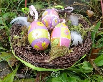 Ostara decor, Spring Equinox altar decor, Easter decor, decorative nest, Spring home decor