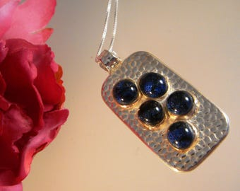 Drops of Jupiter - Fine Silver Pendant with Dichroic Glass Cabochons