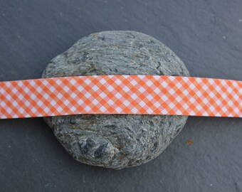 Bias Plaid orange and white