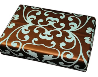 2 x Luxury Flocked Wrapping Paper - 4 Different Designs