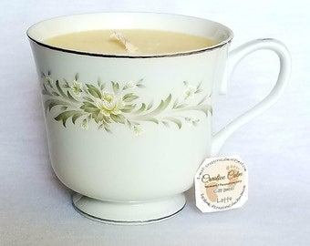 Caramel Latte Scented Teacup Candle