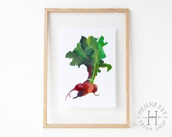 Beets Printable Art Print / Instant Download / Printable Art / Digital Print / Watercolor / Vegetables / 8x10 / Kitchen Decor / Home Decor