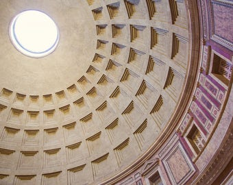 "Architecture Art Print, Rome Photography, Dome Ceiling of Roman Pantheon, Large Wall Art, Living Room Decor ""Heavenly Sphere"""