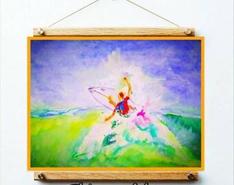 Surfer wall art , Waves ocean , sport art , surf wall , surfing print , stickers , room decor , surf decal , children gift , bedroom