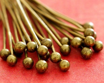 200pcs 20mm Antique Bronze Finish Ball Pins