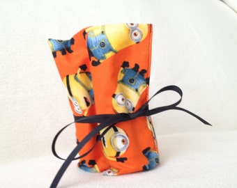 Sidewalk chalk bag - Minion, orange chalk holder