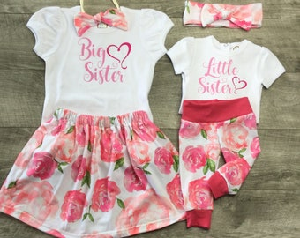 Big sister little sister sibling outfits/take home outfits