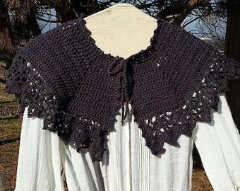 PDF Crochet PATTERN for Showingtime Afternoon Tea Capelet