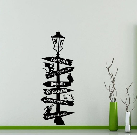 Chronicles of Narnia C. S. Lewis Road Sign Wall Decal Poster Vinyl Sticker Art Decor Mural