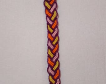 Purple Braided Friendship Bracelet