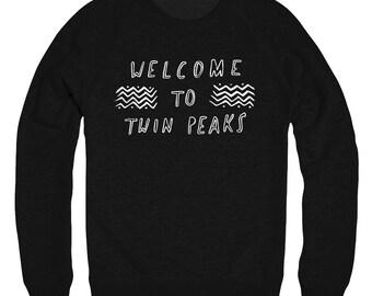 Welcome to Twin Peaks fan raglan sweater