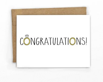 Wedding Congratulations Card ~ Wedding Rings