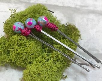 decorative hair pins, hair jewelry, bobby pins
